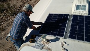 Bob Helping with Solar Panel